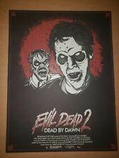 London 1888 Evil Dead 2 Dead by Dawn Screen Print Poster Ott Not Mondo 40/200