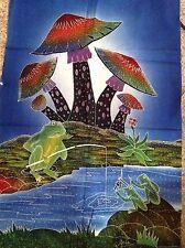 Mushroom Frog Batik Quilting Panel 76 x 45cm