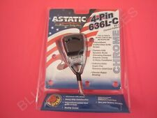 Astatic 636L-C Chrome Edition Noise Canceling 4-Pin CB Radio Microphone