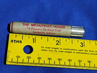 Broadway House Advertising Toothpicks Can Shelbyville,Indiana Antique-VTG Rare