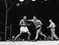 ROCKY MARCIANO vs JERSEY JOE WALCOTT 1952 BOXING FIGHT 8X10 PHOTO