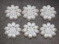 Flatback Cameo Embellishment Embroidery Sunflower Photo Glass Round Cabochons