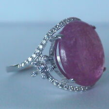 9.50 ct NATURAL RUBY RING 925 STERLING SILVER,Fine Estate Jewelry. SIZE 6.25