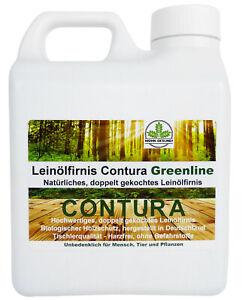 NATUR Holzschutz Holzöl Leinölfirnis 9,96€L Leinöl Möbelöl Holzlasur Terassenöl