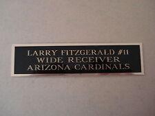 Larry Fitzgerald Cardinals Nameplate For A Football Mini Helmet Case 1.5 X 6