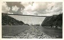 North Carolina, NC. Fontana Dam, 4th Highest in the World Real Photo Postcard