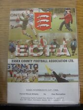 08/04/2002 Essex Intermediate Cup Final: Harold Wood Athletic v Gas Recreation [