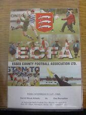 08/04/2002 Essex Intermediate Cup Final: Harold Wood Athletic v Gas Recreation [