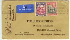 1939 Hamilton Bermuda Air Mail cover to Phila PA Judson Press