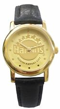 Harrah's North Kansas City Ladies' Watch With Gold Color Case & Blk Leather Band