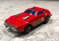 Vintage 1976 Matchbox Superfast No. 64 Fire Chief Red Die-Cast Car - England