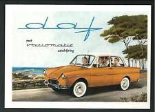 Daf Variomatic - riproduzione moderna su cartolina di pubblicità d'epoca