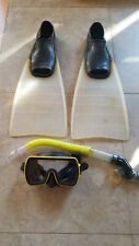 Dacor Scuba/Snorkeling Mask, Tempered Lens, Dacor Cordaflex Fins Size 8-9