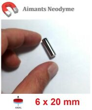 Lot aimant cylindre 6X20mm Très Puissant Neodyme N35 : Fixation, Magnet, Fimo...