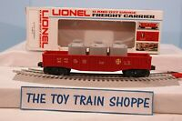 LIONEL 6272 ATSF SANTA FE GONDOLA W 3 CANISTERS FROM SSS SET. EXC COND IN BOX!