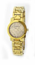 Burberry Check The City 26mm Gold Tone Stainless Steel Quartz Watch BU9234