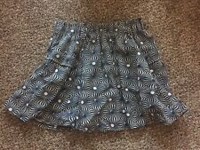 EUC Free People Pleated Mini Skirt Size Medium Full Cute Free Shipping