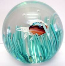 Vintage Murano Art Glass Fish Paperweight Made By Cenedese