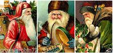 SET OF 9 CHRISTMAS SANTA CLAUS (58) SCRAPBOOK CARD EMBELLISHMENTS HANG/GIFT TAGS