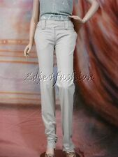 $650 New PRINGLE Khaki Grey Low Rise Cotton Button Strap Slacks Pants 8 12