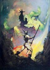 "Authentic Frank Frazetta Print ""THE NORSEMAN"" #52  17 X 23"""