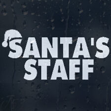 Funny Christmas Santa's Staff Car Decal Vinyl Sticker