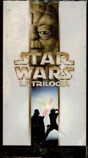 STAR WARS LA TRILOGIA - BOX VHS NUOVO E SIGILLATO, PRIMA STAMPA ORIGINALE, RARA