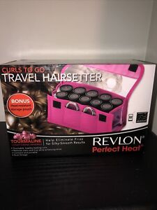 "Revlon ""Perfect Heat"" Curls-to-Go 10 Piece, Travel Hot Rollers Set-RVHS6603 New"