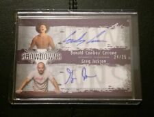#24/25 Donald Cerrone Cowboy Greg Jackson Dual Autograph Auto 2010 Leaf MMA