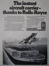 1982 PUB ROLLS-ROYCE PEGASUS AV-8B HARRIER II V/STOL CONTAINER SHIP ORIGINAL AD