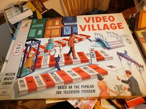 vintage 1960 Video Village game Milton Bradley CBS TV COMPLETE very nice