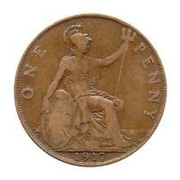 KM# 810 - One Penny - Freeman 181 (2+B) - George V - Great Britain 1917 (F)