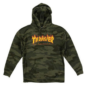Thrasher Hoody Flame (Camouflage Forest)