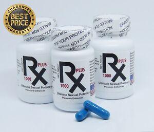 RX1000 Plus Sexual Potency Special 2X30 Caps Bottles + 14 Caps Bottle + Samples