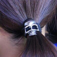 Silver Skull Elastic Hair Band Accessory Viking Shield Maiden
