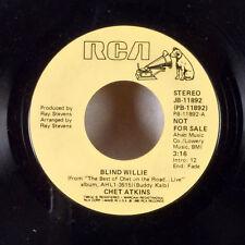 "Chet Atkins Blind Willie / Dance With Me 7"" 45 RCA promo WLP dj radio EX"