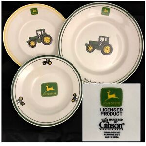 2005 John Deere Licensed Soup Bowl /& Saucer//Underplate by Gibson USA