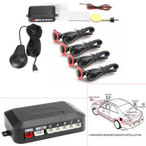 Car Parking 4 Hidden Sensors 13mm Reverse Backup Radar Sound Buzzer Alarm 12V DC
