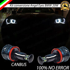 KIT ANGEL EYES A LED CREE H8 CANBUS 6000K PER BMW X5 E70 20W BIANCO GHIACCIO