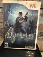 Resident Evil 4 Wii Edition Nintendo 2007 Capcom Zombie Horror Shooter Monsters
