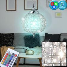 RGB LED Kristall Pendel Lampe Fernbedienung Decken Hänge Kugel Big Light