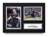 Lee Gregory Signed A4 Photo Display Millwall Autograph Memorabilia + COA