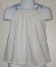 New babyGAP Size 3T White Gathered Spaghetti Strap Tops ~ Shirt