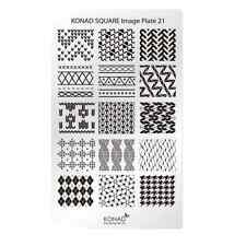 KONAD Square Image Plate 21 for Stamping Nail Art Transfer Stencils Designs