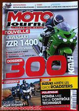 Moto Journal 26/01/2012; Dossier 300 KM/h/ Kawa ZZR 1400/ Yam SRX 600/ BMW Compa