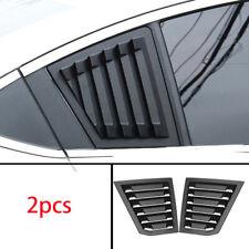 FOR Chevrolet Cruze 2010-2015 Matt black Rear Side Window Vent shutter trim 2pcs