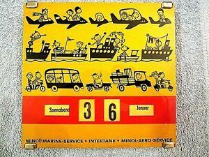DDR Drehkalender  M I N O L  / INTERTANK   MARINE-SERVICE   AERO-SERVICE