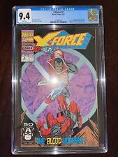 X-Force #2 - CGC 9.4 NM WP! 1st app. of Weapon X (Garrison Kane)! 2nd Deadpool!