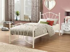 Birlea Sophia Cream Off White Single 3FT 90cm Metal Bed Frame