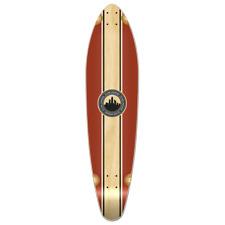 Yocaher Kicktail Longboard Deck - Crest Burgundy  (DECK ONLY)